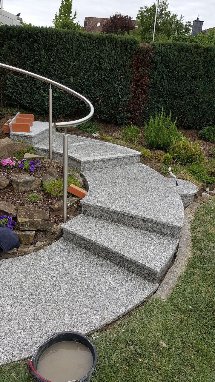 Großplatten / Stufen für die Terrasse / Garten (Granit: Material Rosa Beta)
