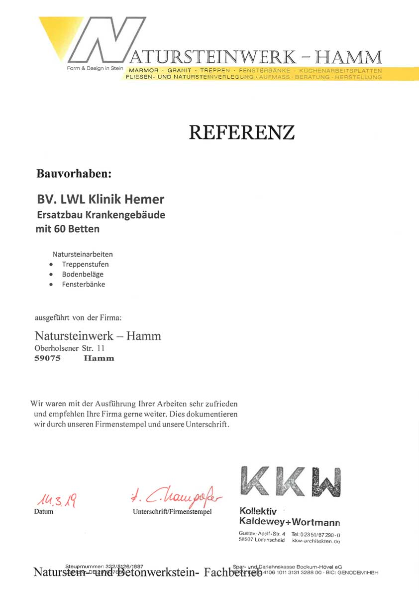 Referenz - Kaldewey, Wortmann Architekten Partnerschaftsgesellschaft mbB