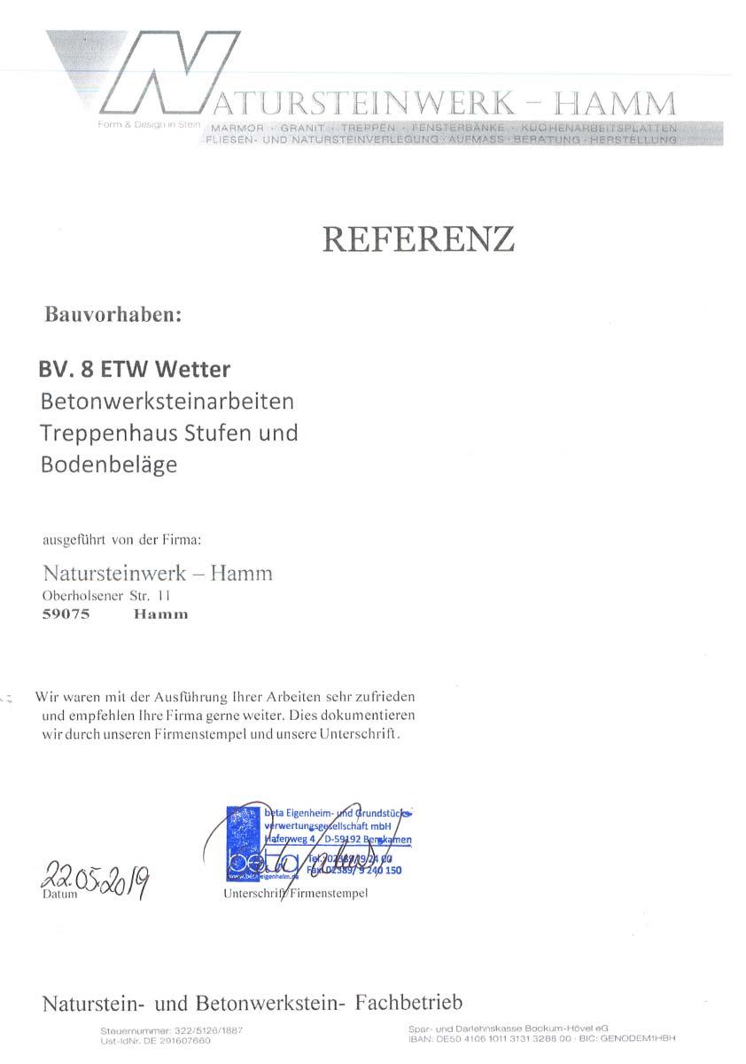 Referenz beta Eigenheim - Treppenhausstufen und Bodenbeläge