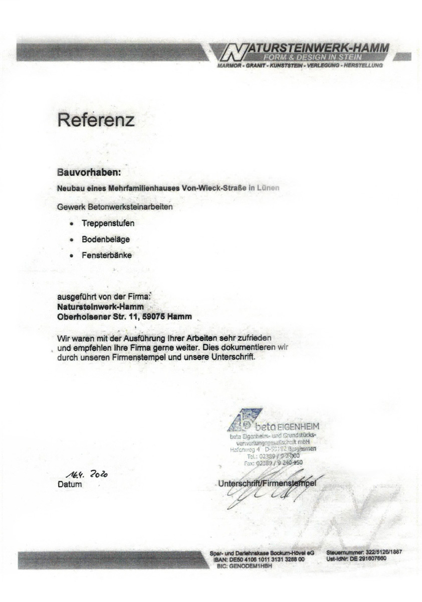 Referenz beta Eigenheim - Mehrfamilienhaus