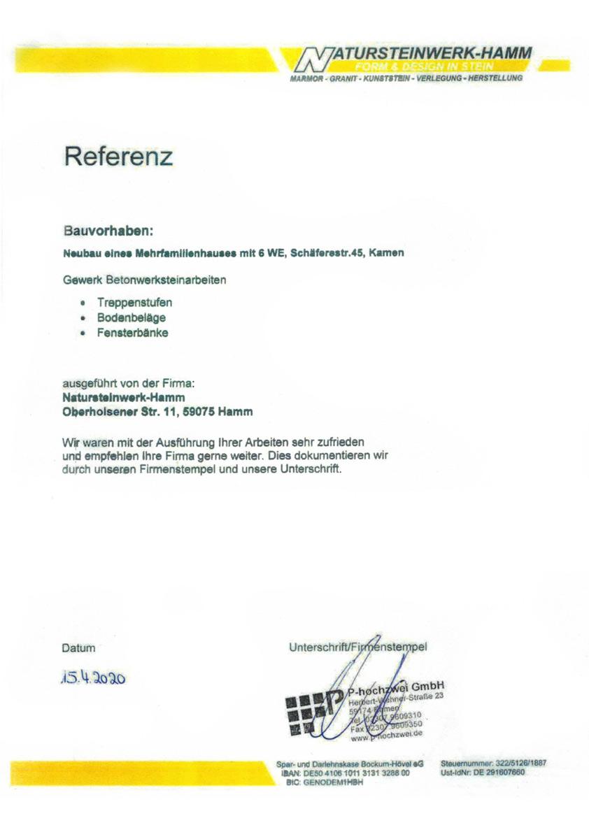 Referenz von P-Hochzwei - Mehrfamilienhaus Kamen